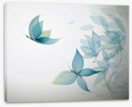 Azure butterfly leaves Stretched Canvas 40939035
