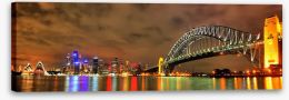 Sydney harbour bridge with opera house Stretched Canvas 41203587
