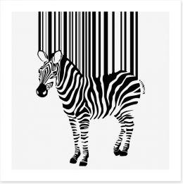 Barcode zebra Art Print 41203787