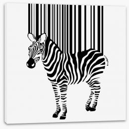 Barcode zebra Stretched Canvas 41203787