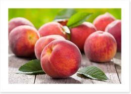 Plump peaches Art Print 42496953