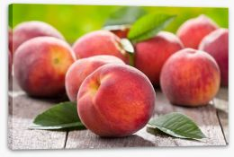 Plump peaches Stretched Canvas 42496953