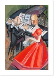 Beside the pianist Art Print 42707372