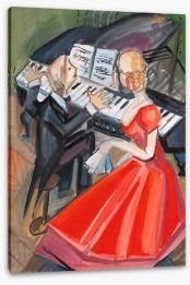 Beside the pianist Stretched Canvas 42707372