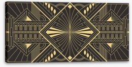 Art Deco Stretched Canvas 428167624