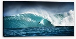 Surfing panorama Stretched Canvas 42881573