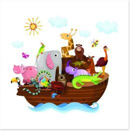 Noah's Ark with friends Art Print 42969826