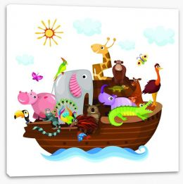 Noah's Ark with friends Stretched Canvas 42969826