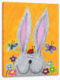 Rabbit in the Spring Stretched Canvas 43131595