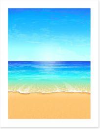 Paradise beach Art Print 43207943