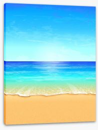 Paradise beach Stretched Canvas 43207943