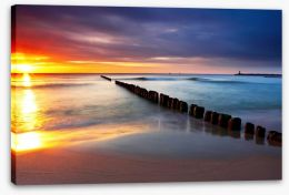 Sunrise over the sea Stretched Canvas 43416321