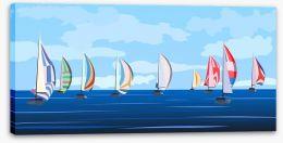 Summer regatta Stretched Canvas 43452474