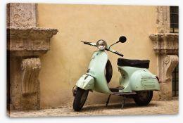 Vintage Vespa Stretched Canvas 43485979