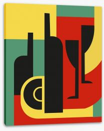Bottle and glass Stretched Canvas 43578867