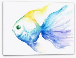 The smiling fish Stretched Canvas 43648102