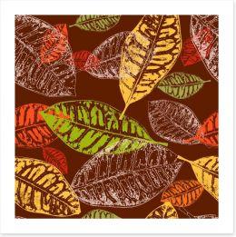 Autumn leaves Art Print 43656528