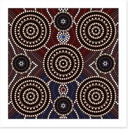 Outback elements Art Print 43704515