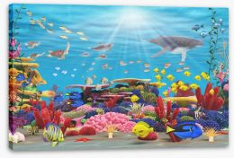 Underwater paradise Stretched Canvas 43711064