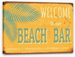 Vintage beach bar Stretched Canvas 44063152