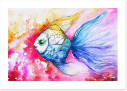 Rainbow carp Art Print 44107717