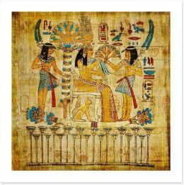 Papyrus pharaoh Art Print 44178113