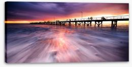Semaphore Jetty sunset Stretched Canvas 44626564