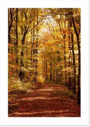 Autumn forest way Art Print 44681076