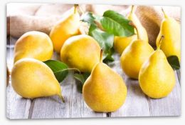 Golden pears Stretched Canvas 44709988