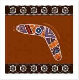 Desert boomerang Art Print 44770778