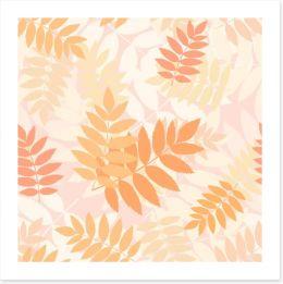 Rowan leaves Art Print 44845005