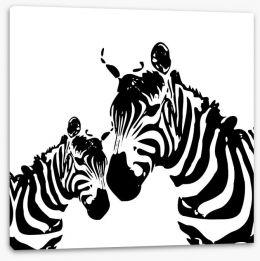 Zebra love Stretched Canvas 44947998