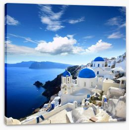 Santorini old village Stretched Canvas 45073377