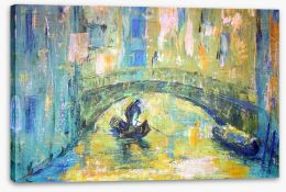 Under the Venetian bridge Stretched Canvas 45233480