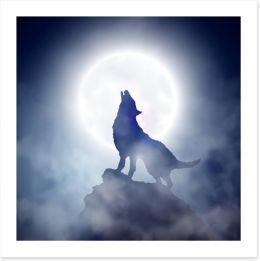 Howling at the moon Art Print 45392291