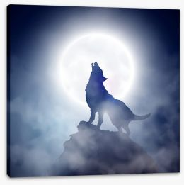Howling at the moon Stretched Canvas 45392291