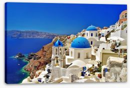 Amazing Santorini coast Stretched Canvas 45396785