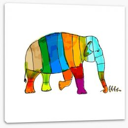 Rainbow elephant Stretched Canvas 46314083
