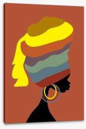 Turban beauty Stretched Canvas 46452560