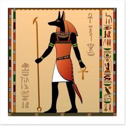 Anubis the jackal-headed deity Art Print 46600632