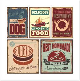 Fast food vintage Art Print 46667643