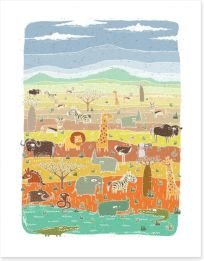 African Art Art Print 47591704