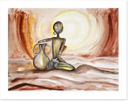 African sunset Art Print 47737015