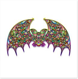 Psychedelic bat