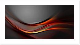 Swirling red Art Print 47856499