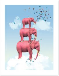 Pink elephants and butterflies