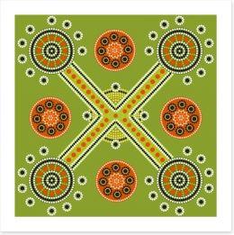 Crossroad and creeks Art Print 47953842