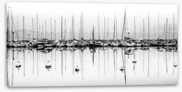 Black and White Stretched Canvas 48110859