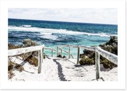 Rottnest Island beach Art Print 48186873