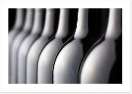Wine bottles Art Print 48191206